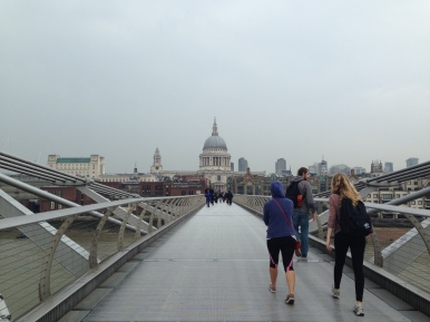 A view of St. Paul's Cathedral in London.