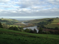 Totnes: View of the River Dart from our estate.