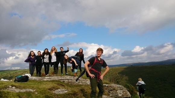 Hiking through Exmoor.